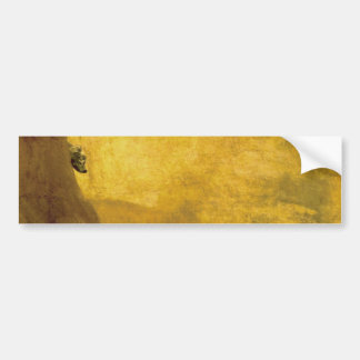 The Dog, by Francisco de Goya Bumper Sticker