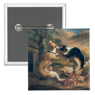 The Dog Fight, 1678 15 Cm Square Badge