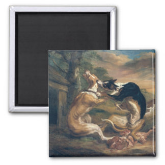 The Dog Fight, 1678 Square Magnet