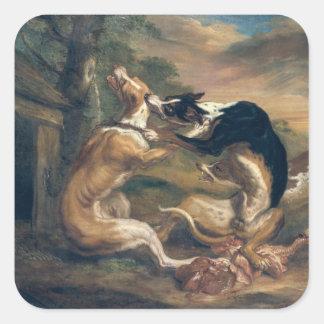 The Dog Fight, 1678 Sticker
