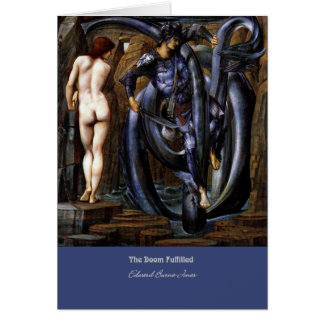 """The Doom Fulfilled"", by Edward Burne-Jones Greeting Card"