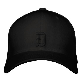 """The Draige """"D"""" Hat (Black D) Embroidered Baseball Cap"""