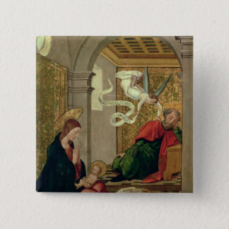 The Dream of St. Joseph, c.1535 15 Cm Square Badge