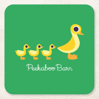 The Duck Family Square Paper Coaster