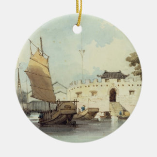 The Dutch Folly Fort off Canton (watercolour) Christmas Ornament