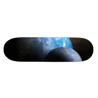 The Earth and Moon Skateboard Deck
