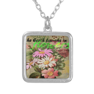 The Earth Laughs in Flowers Silver Plated Necklace