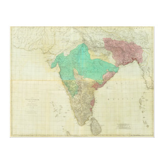 The East Indies with the Roads by Thomas Jefferys Canvas Print