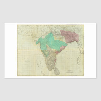 The East Indies with the Roads by Thomas Jefferys Rectangular Sticker