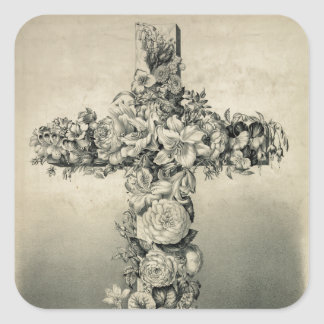 The Easter Cross by Currier Ives 1869 Stickers