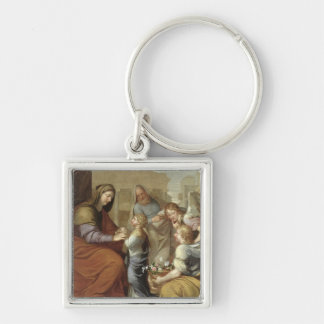 The Education of the Virgin, 1658 Key Ring