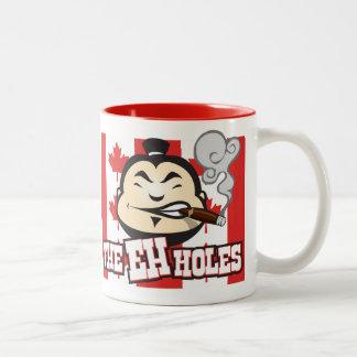 The EH Holes Two-Tone Coffee Mug