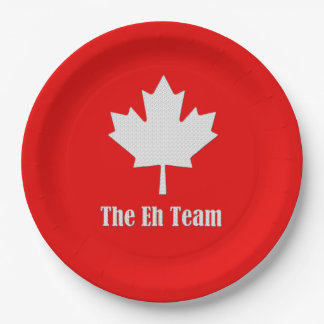 The Eh Team Canada Day Party Paper Plates 9 Inch Paper Plate