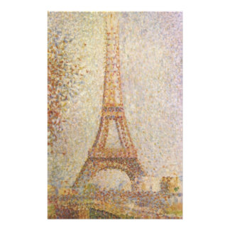 The Eiffel Tower by Georges Seurat Stationery