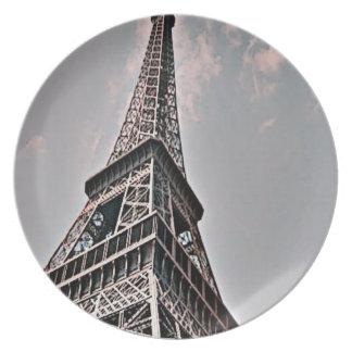 The Eiffel Tower Dinner Plate