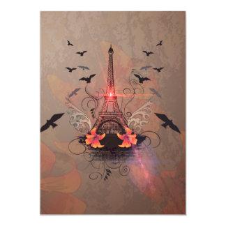 "The Eiffel Tower 5"" X 7"" Invitation Card"