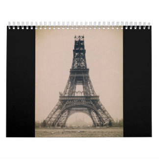 The Eiffel Tower: State of the Construction 1888 Wall Calendars