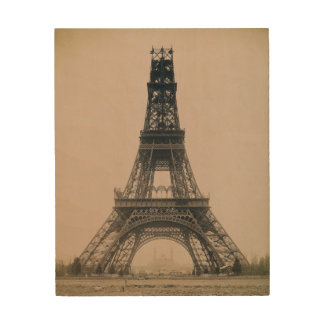 The Eiffel Tower State of the Construction 1888 Wood Canvases