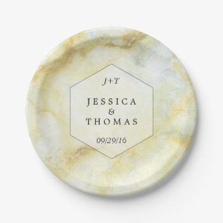 The Elegant Marble Effect Wedding Collection 7 Inch Paper Plate
