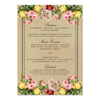 The Elegant Vintage Floral Wedding Collection 11 Cm X 16 Cm Invitation Card