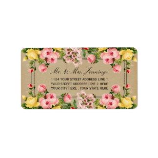 The Elegant Vintage Floral Wedding Collection Address Label