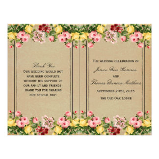The Elegant Vintage Floral Wedding Collection Flyers
