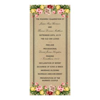 The Elegant Vintage Floral Wedding Collection Full Colour Rack Card