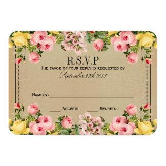 "The Elegant Vintage Floral Wedding Collection 3.5"" X 5"" Invitation Card"