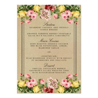 "The Elegant Vintage Floral Wedding Collection 4.5"" X 6.25"" Invitation Card"