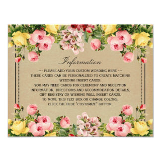 The Elegant Vintage Floral Wedding Collection Announcement Cards