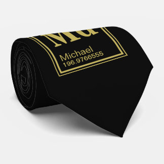 The Element of You! Custom Name Black Periodic Tie