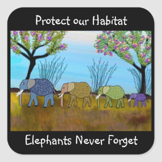 The Elephant Habitat Stickers