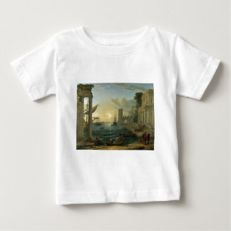 The Embarkation of the Queen of Sheba by Claude Baby T-Shirt