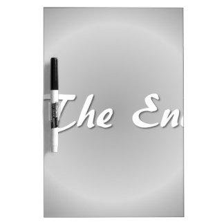 The End Grey Dry Erase Board