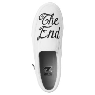 """""""The End"""" Hand Lettering Bride Groom Wedding Gift Printed Shoes"""