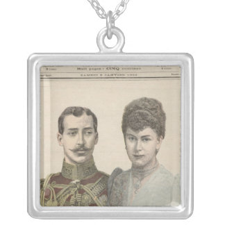 The Engagement of Albert Victor  Duke of Silver Plated Necklace
