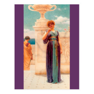The Engagement Ring by Godward Postcard