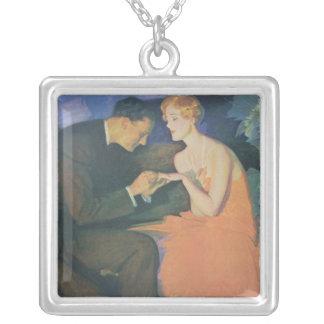 The Engagement Square Pendant Necklace