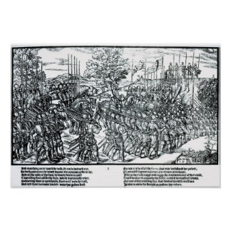 The English Army Marching with Sir Henry Sidney Poster