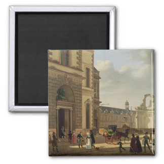 The Entrance to the Musee de Louvre and St Fridge Magnet