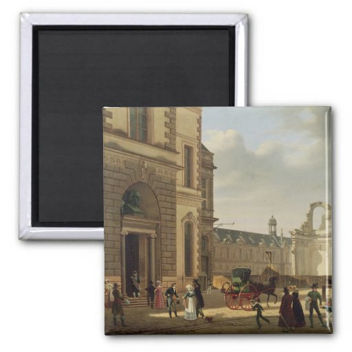The Entrance to the Musee de Louvre and St. Fridge Magnet