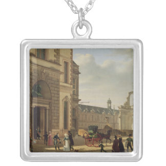 The Entrance to the Musee de Louvre and St. Silver Plated Necklace