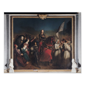 The Entry of Joan of Arc  into Orleans Poster