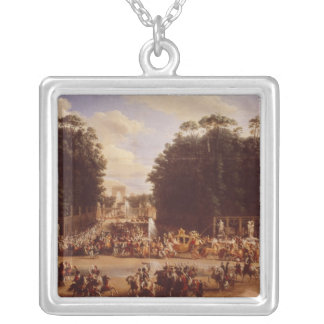 The Entry of Napoleon and Marie-Louise Silver Plated Necklace