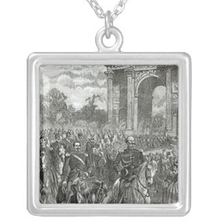 The entry of Napoleon III and Victor Emmanuel Silver Plated Necklace