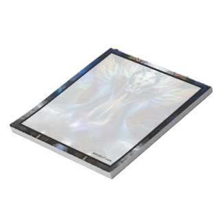 The Eternal Majesty Of Thera Fractal Portrait Notepad
