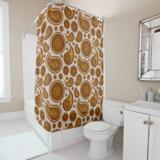 The Ethnic Paisley Shower Curtain