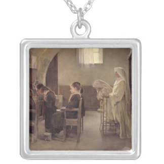 The Eve of the First Communion, before 1890 Silver Plated Necklace
