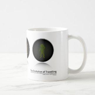 The Evolution of Travelling Basic White Mug