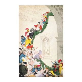 The Exhibition Stare Case, c.1800 Canvas Print